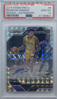 2016-17 Panini Prizm Mosaic Brandon Ingram ROOKIE RC AUTO #8 PSA 10 GEM MINT