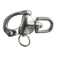 Stainless Steel Snap Shackle With Swivel.  Sailing Shackle Foresheet