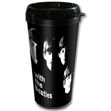 BEATLES PLASTIC TRAVEL MUG With the Beatles