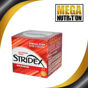 Stridex Single-Step Acne Control Maximum Alcohol Free | 55 Soft Touch Pads