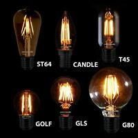 Filament Light Bulbs LED Edison Vintage Standard Decorative Antique Industrial