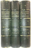 LEATHER Set;MILITARY HISTORY U.S. GRANT! Memoirs Ulysses Personal FIRST EDITION!