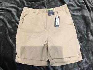 M&S Ladies Cotton shorts BNWT Size 12 Neutral Colour Knee Length