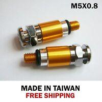 Fork Bleeder Valve  RM/RMX/RMZ/DR/DRZ 125/250/400/450-M5x0.8 Gold