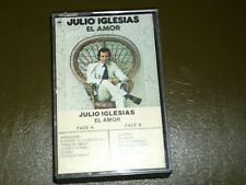 JULIO IGLESIAS<>EL AMOR<>RARE Audio CASSETTE ~Made in Canada  *pfct90602*