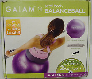 Gaiam Stability Balance Ball Total Body Workout Tone Upper Body Tighten The Abs