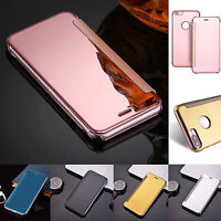 Luxury Mirror Smart Clear View Wallet Flip Case Stand Cover For iPhone 7 6s Plus