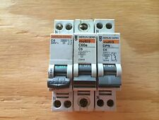 LOT of 3 Merlin Gerin circuit breaker C6 C60a 6a DPN multi 9 breakers