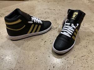 Adidas Top Ten High Black Gold Metallic Size 12