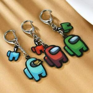 8 PACK AMONG US KEYCHAIN STAINLESS STEEL HIGH QUALITY GAME TOYS GIFTS