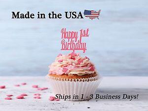 Happy Birthday, Any Age, Happy Birthday Number, Cupcake Topper, Acrylic, LCT1017