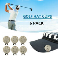 Magnetic Hat Clip Golf Ball Marker Hat Clip Putting 6 Pack Premium Golf Gifts