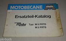 Pièces CATALOGUE/pièce de rechange liste MOTOBECANE MOBY m3 prtd/prts stand 04/1975