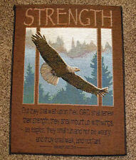 Strength ~ Eagle w/Inspirational Isaiah Verse Tapestry Bannerette Wall Hanging