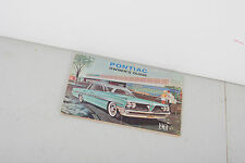 1961 Pontiac Owner's Guide