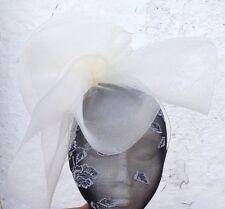Fascinator de la sombrerería Burlesque Boda Marfil Sombrero Ascot raza británica Fiesta Nupcial