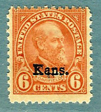 "US #664 ~ MNH OG 1929  ""Kans."" Overprinted Definitive ~ Typical Margins / X2"