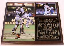 Tim Lincecum #55  First Career No-Hitter San Francisco Giants Photo Plaque