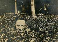 VINTAGE GRAZING IN THE GRASS FUNNY UNUSUAL YOUNG MAN ARTISTIC NATURE TREES PHOTO