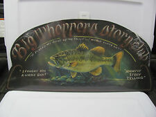 NEW ASSCI - Big Whoppers Storyclub - Fish - Wood Sign Plaque Hand Crafted USA