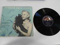 """Yvonne Printemps LP Vinyl 10 """" 1960 Die Voix de Son Maitre French Ersten Press"""