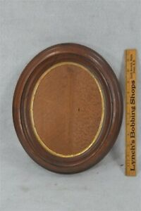 old early period oval walnut picture frame 13x11x2 original 19th c 1800s vg