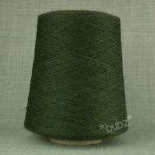 PURE MERINO WOOL YARN 2/30s COUNTRY GREEN 500g CONE LACEWEIGHT MACHINE KNITTING