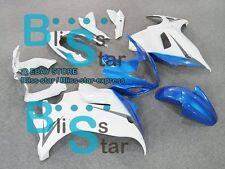 White blue Fairing Bodywork Kit Fit Suzuki GSX650F 2009 2010 2011 2008-2012 2 D2