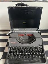 Hermes Media Schreibmaschine im Koffer schwarz Rarität wie neu
