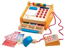 Hape Checkout Register Pre-School Young Children Wooden Toy Game Bn