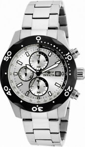Invicta Specialty 17749 Men's Round Silver Tone Analog Chronograph Date Watch