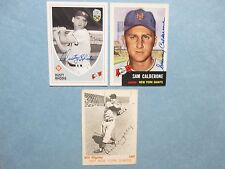 BILL  RIGNEY/DUSTY  RHODES/SAM  CALDERONE  Giants Signed Cards(Each is deceased)