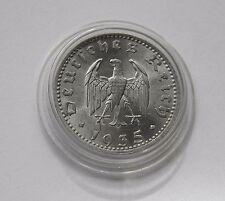 THIRD REICH: 50 Reichspfennig 1935 A,J. 368,brilliant uncirculated,GREAT PIECE