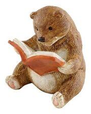 Baby Bear Reading Miniature Figurine (4454)Fairy Garden Terrarium Miniature 2.25