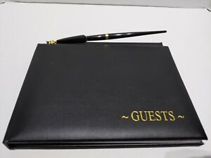 Victoria Lynn Black Wedding Graduation Funeral Guest Book w/Pen 60 Pg Reception