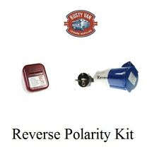 Eu Europe Continental Mains hook up reverse polarity adapter lead & Tester Kit 2