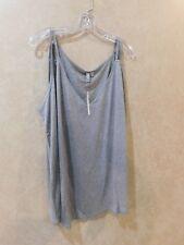 Asos Women's Sz 22  Tank Top Polyester Sleeveless Shirt Gray ________ R18B1