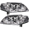 Headlight Set For VW Passat B6 Type 3C 05-10 LED Clear Glass/Chrome Dragon