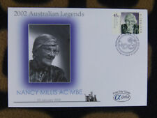 SCARCE ALPHA FIRST DAY COVER - 2002 AUSTRALIAN LEGENDS. NANCY MILLIS