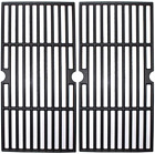 """BBQ Cast Iron Grill Cooking Grates 17"""" 2-Pack for Charbroil Char-broil 463633316"""