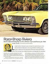 1964 BUICK RIVIERA 425/340 HP ~ GREAT 4-PAGE ARTICLE / AD