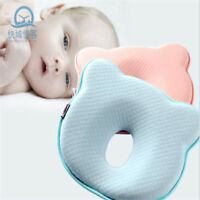 Infant Baby Cot Pillow Memory Foam Cushion Sleeping Support Prevent Flat Head MA