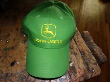 Authentic Vintage John Deere Tractors Farm Machinery Puffy Green Truckers Hat Jd