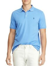 NEW POLO RALPH LAUREN HERB IS BLUE CUSTOM SLIM FIT STRETCH MESH POLO SIZE M