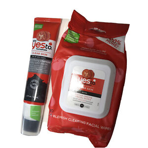 Yes to Tomatoes CLEAR SKIN Blemish Clearing Facial Wipes &detox charcoal mask