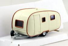 Wohnwagen Anhänger weiß-braun rund alt 1:43 Cararama Modellauto