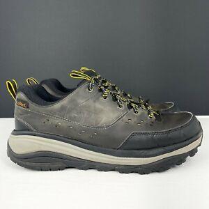 HOKA ONE ONE Tor Summit WP Men's Size 10.5 Gray Black Hiking Shoes