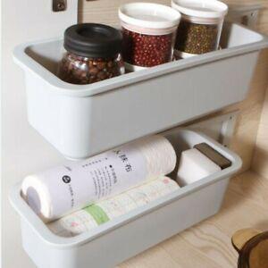 1/2pcs Storage Box 15.20x5.71x4.33in 38.6x14.5x11cm Kitchen PP Sliding