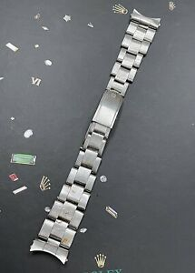 "Rolex Date Men's Oyster 7205 19mm Stainless Steel 4/64 Crown Band ""60"" Ends 6694"