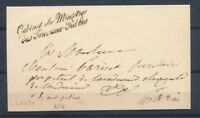1830 Lettre en Franchise Griffe Cabinet du Ministre des Travaux Publics P4077